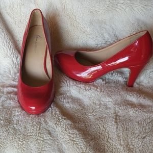 Size 9W red patent heels. Wore one time
